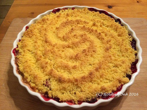 Gluten free Apple Crumble with berries