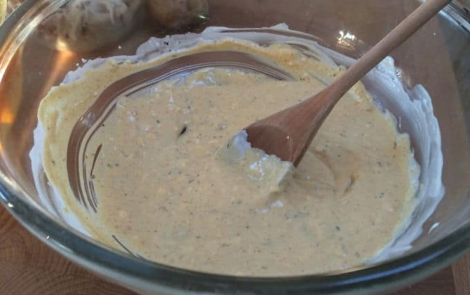 Sauce for coating chicken in Cecily Chicken Salad recipe
